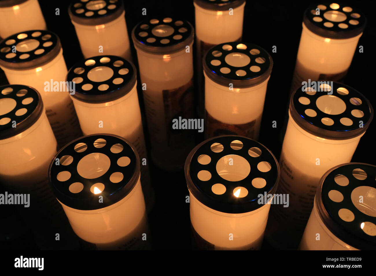 Lumignons.  Candle lights. Stock Photo