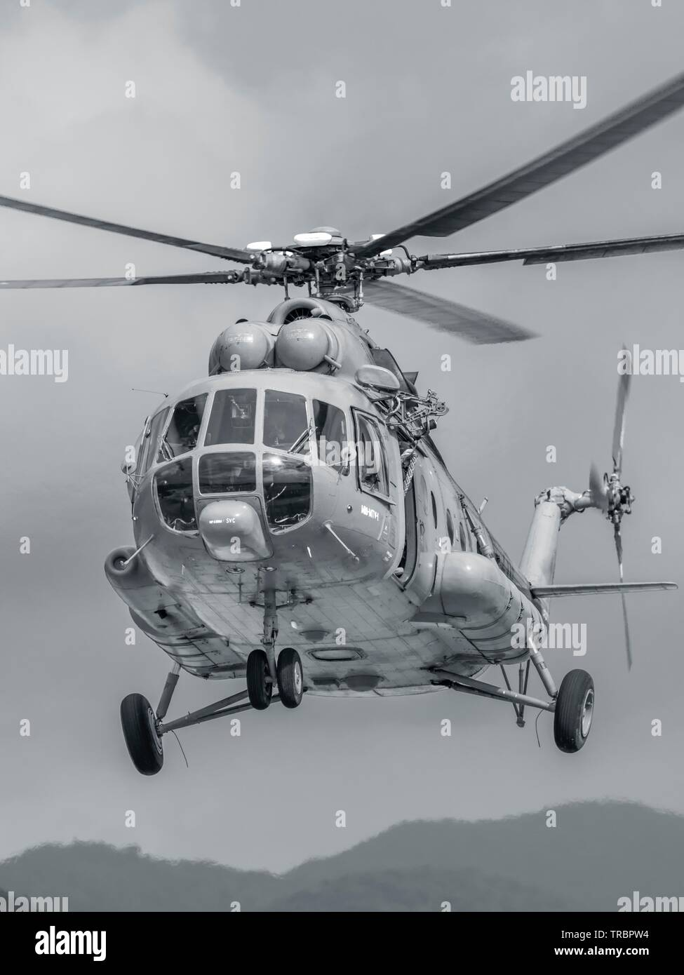 Croatian Air Force Mi-8 MTV-1 helicopter Stock Photo