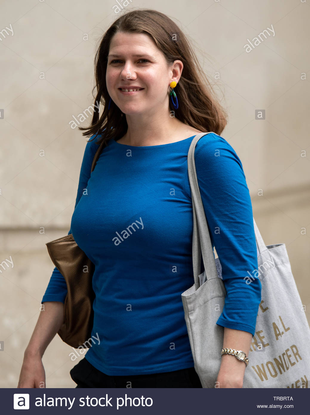 Prospective Liberal Democrats Leader Jo Swinson at BBC Broadcasting House for an appearance on the Andrew Marr Show London, Great Britain, 02 Jun 2019  Credit: David Nash/DNImages - Stock Image