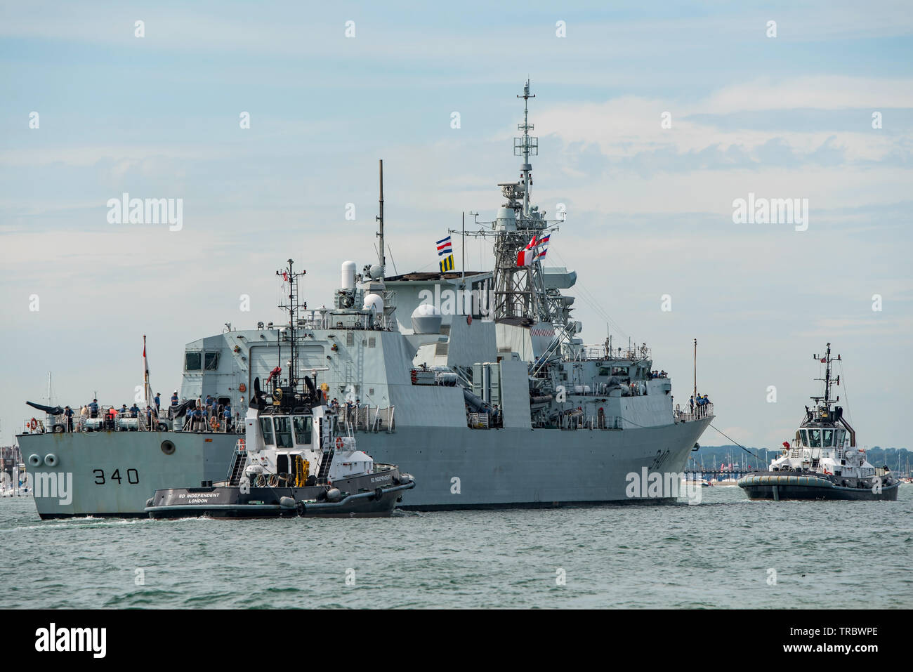 The Royal Canadian Navy frigate HMCS St John's arrived at