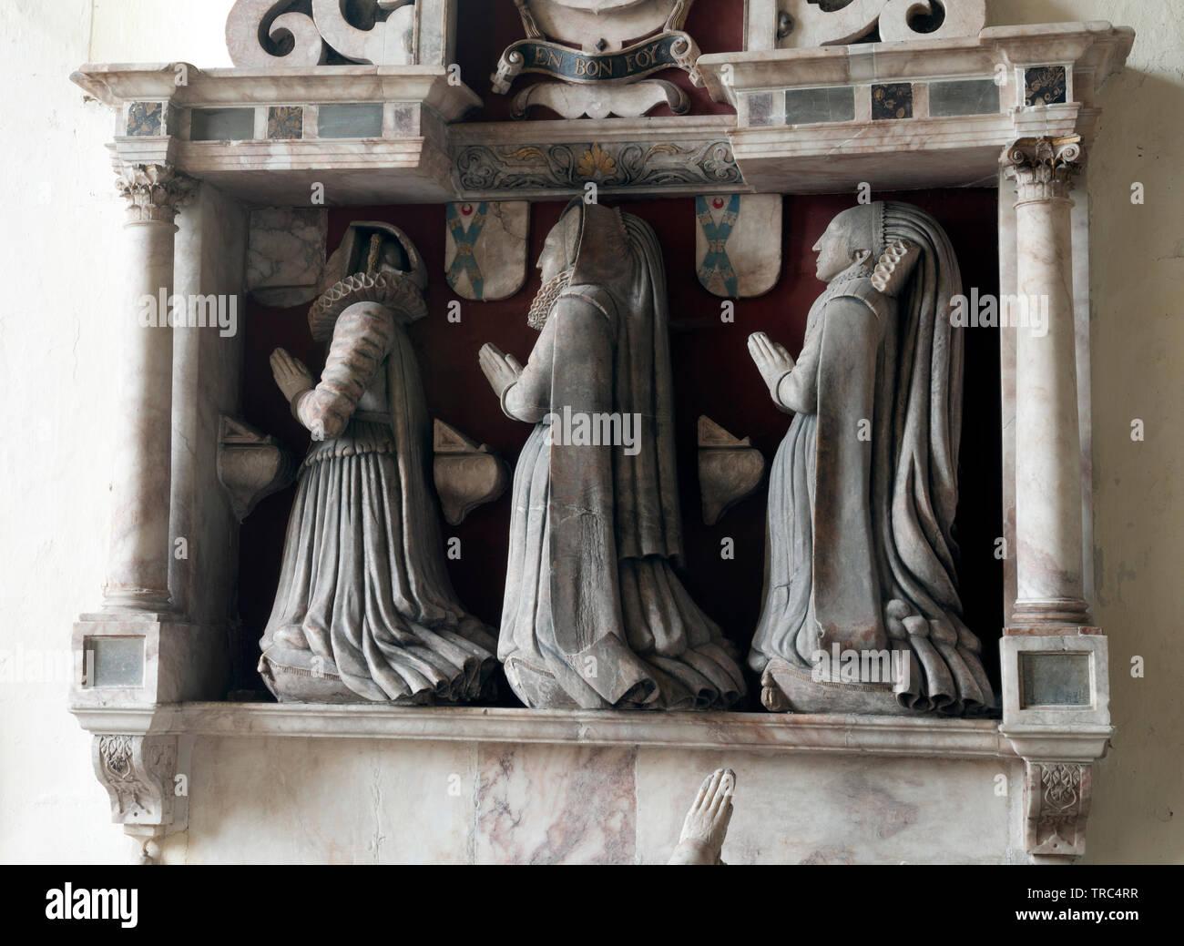 Henry Sacheverall monument, Holy Trinity Church, Ratcliffe-on-Soar, Nottinghamshire, England, UK - Stock Image