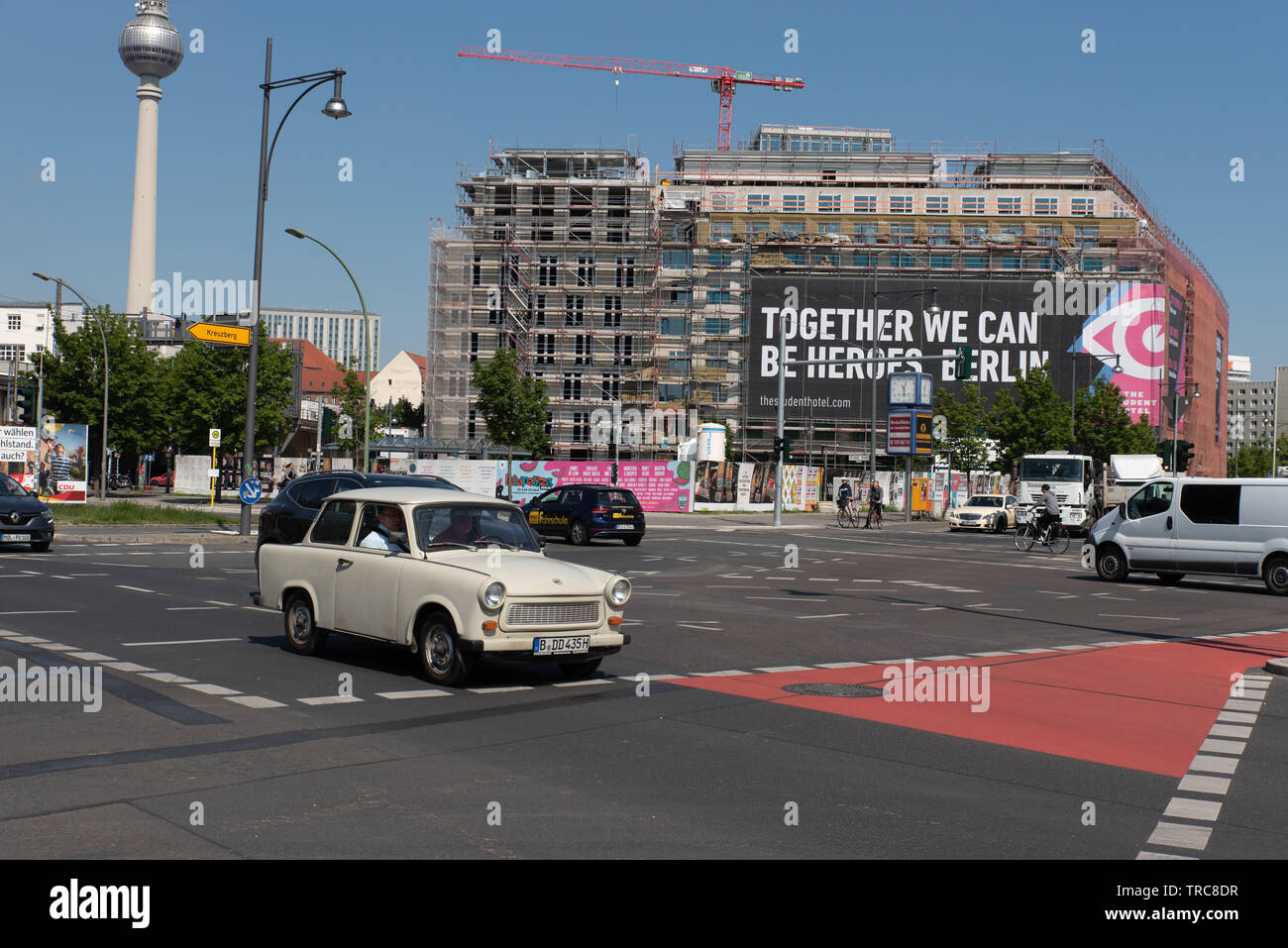 Trabant - also called Trabi - in Berlin, Germany. - Stock Image