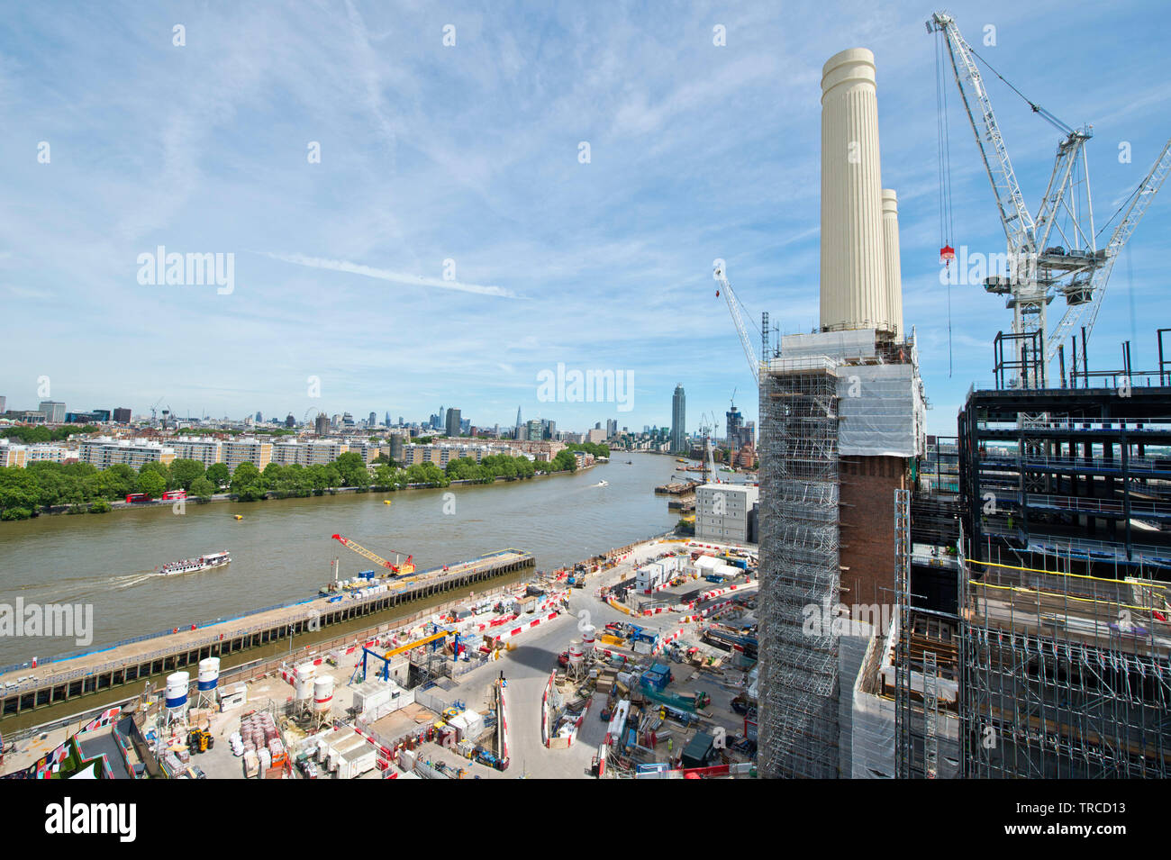 Battersea Power Station construction in south London. 31.05.19. - Stock Image