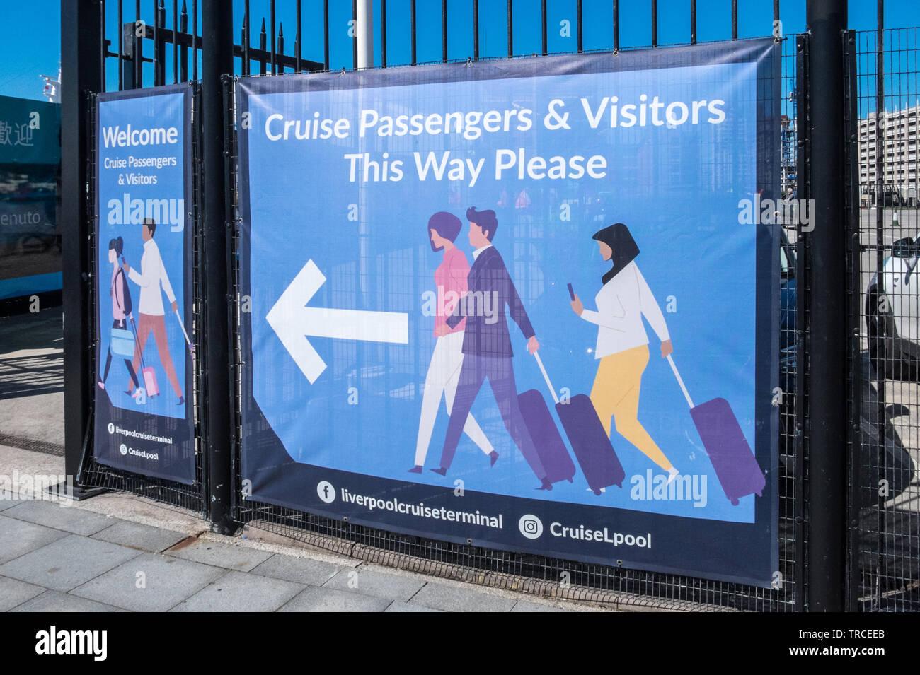 Cruise,passenger,terminal,ship,boat,River Mersey,waterfront,Liverpool,Merseyside,England,GB,UK,Great Britain,British - Stock Image
