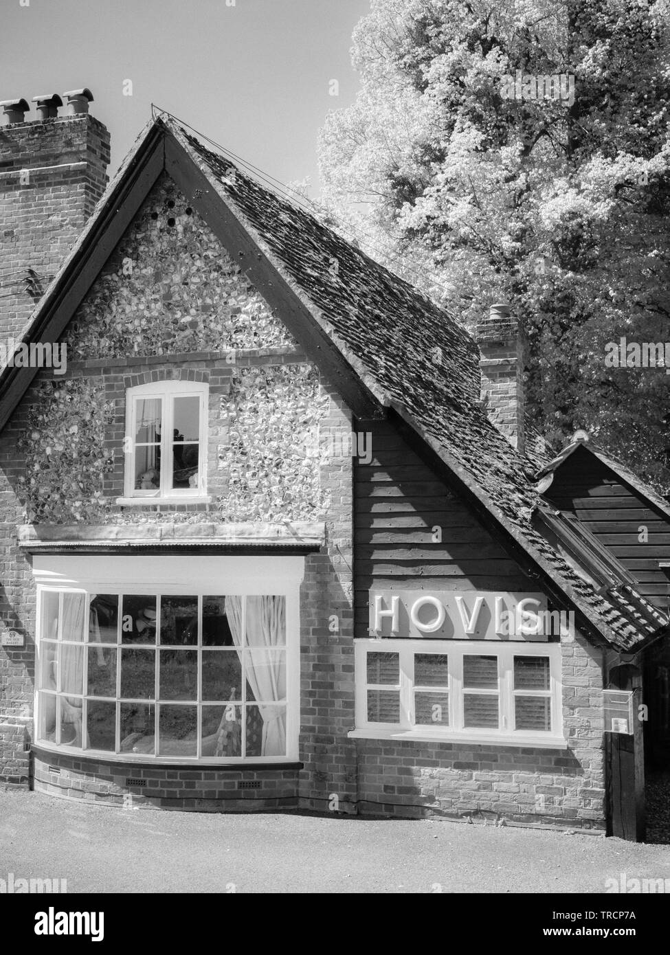 Old Bakery with Hovis Sign, Hambleden Village, Wycombe district, Berkshire, England, UK, GB. - Stock Image