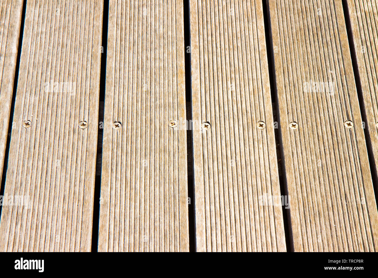Floor wooden slats for outdoor use - Stock Image