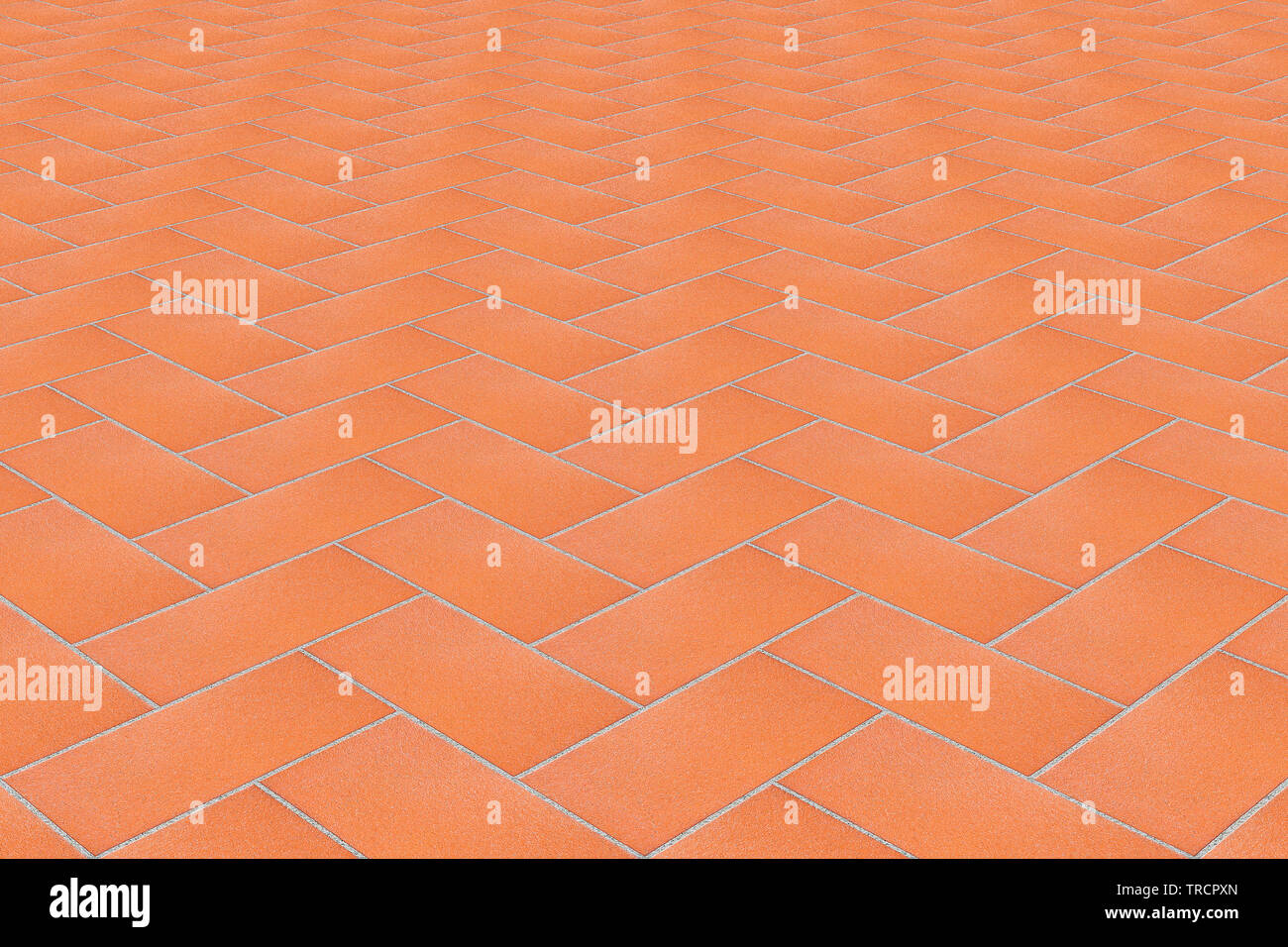 New italian brick pavement for indoor and outdoor use - perspective view - Stock Image