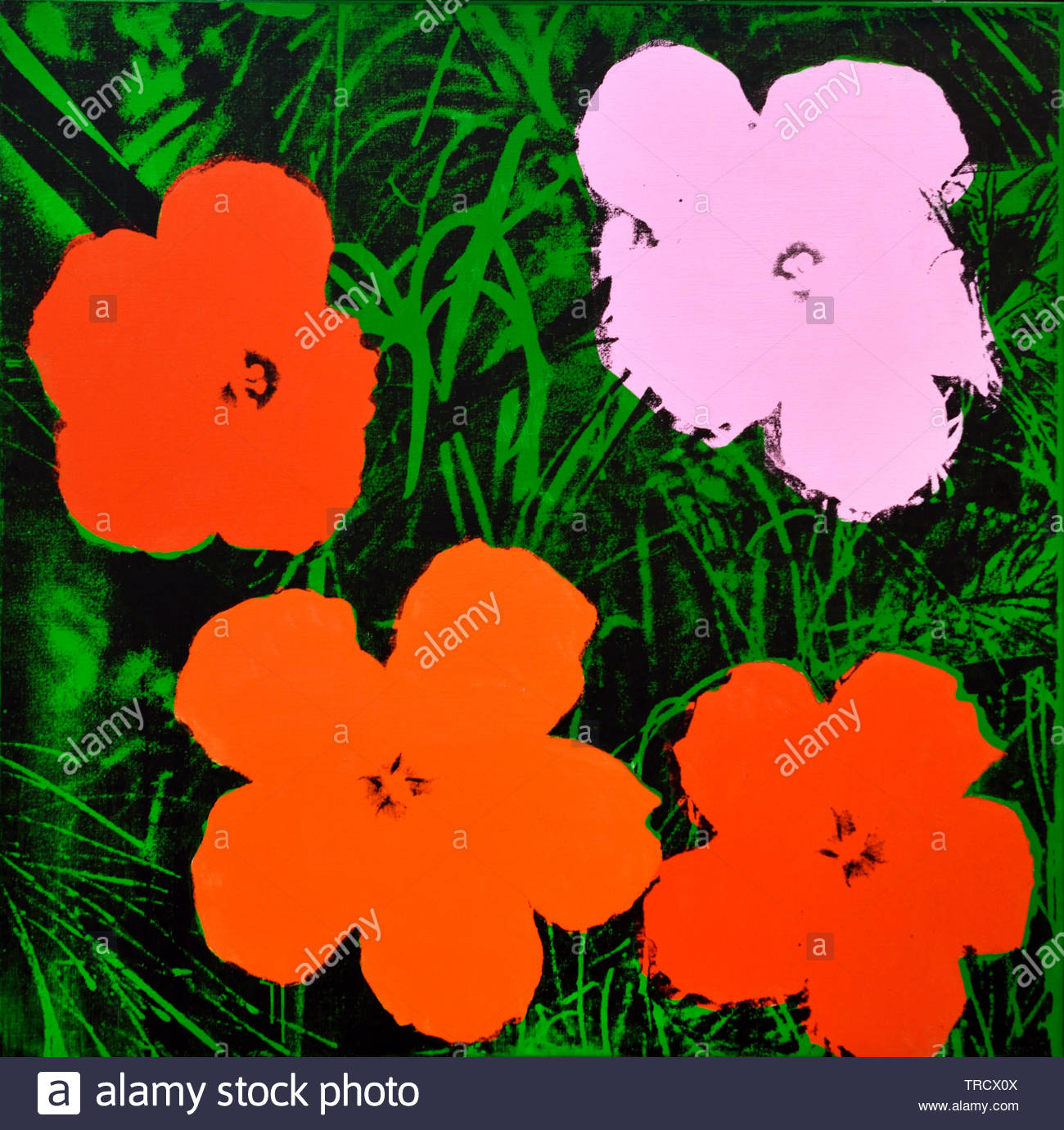 Flowers by Andy Warhol 1928 United States of America USA ( American artist, director and producer who was a leading figure in the visual art movement known as pop art. ) - Stock Image