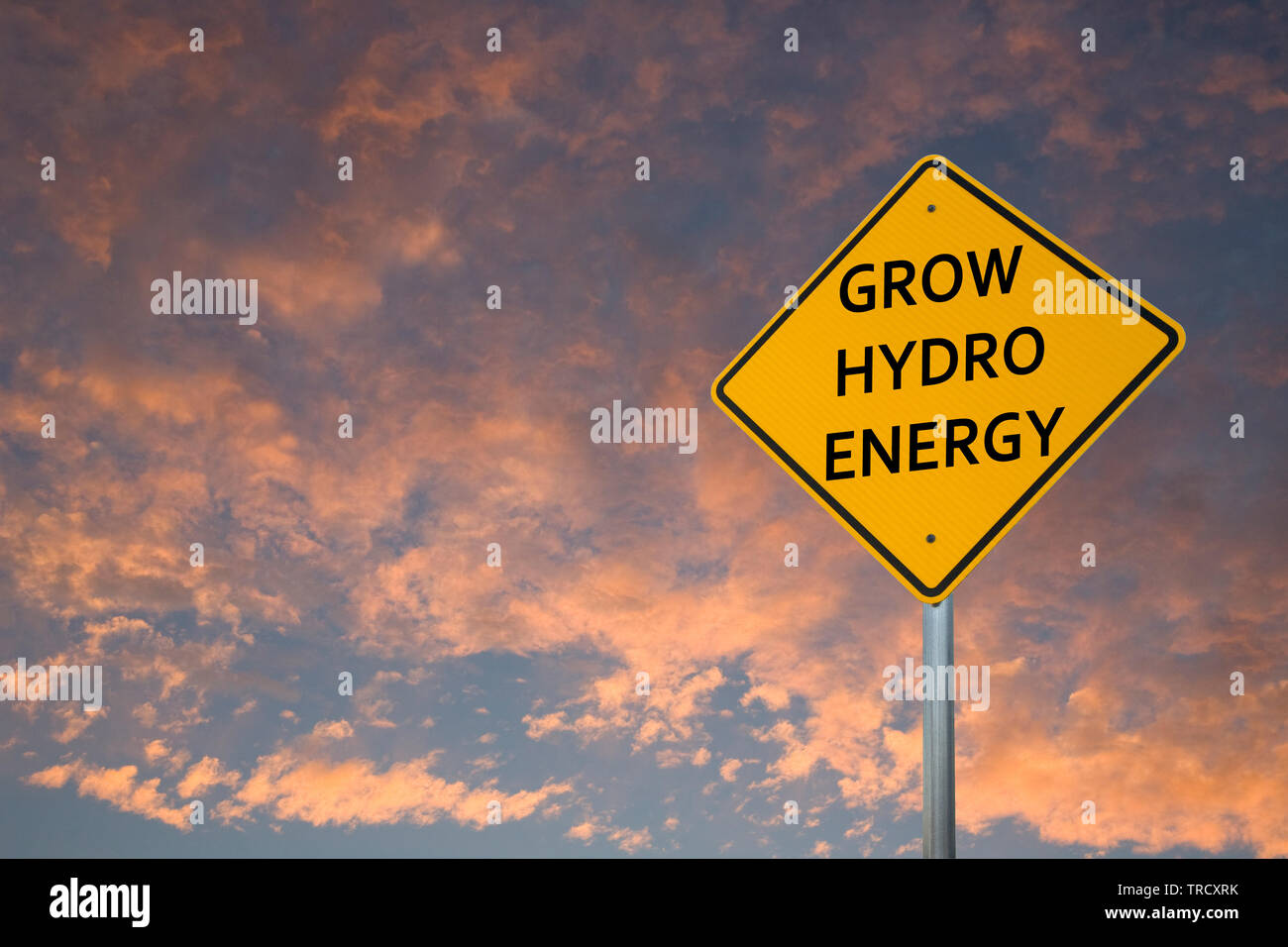 Grow Hydro Energy Stock Photo