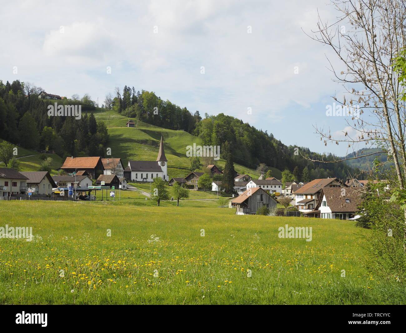 Fischenthal, Gemeinde Hinwil, Kanton Zürich, Schweiz - Stock Image