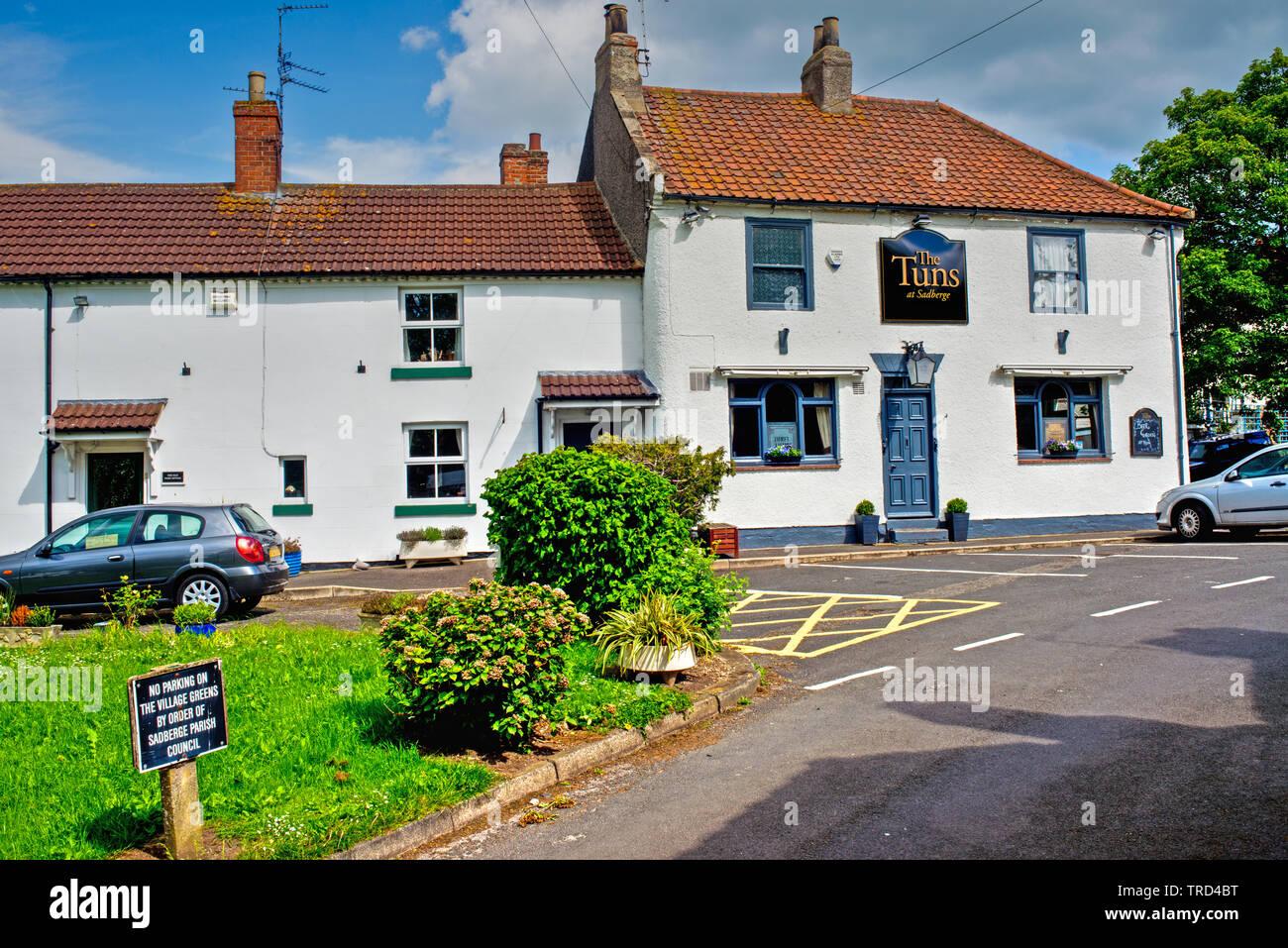 The Tuns Inn, Sadberge, Borough of Darlington, England Stock Photo