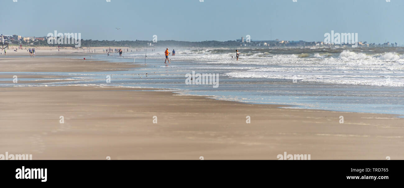 Panoramic view of Atlantic Beach in Northeast Florida near Jacksonville. (USA) - Stock Image