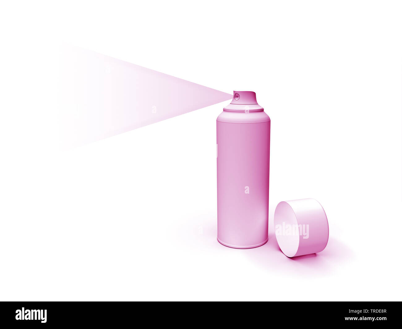 pink spray can - Stock Image