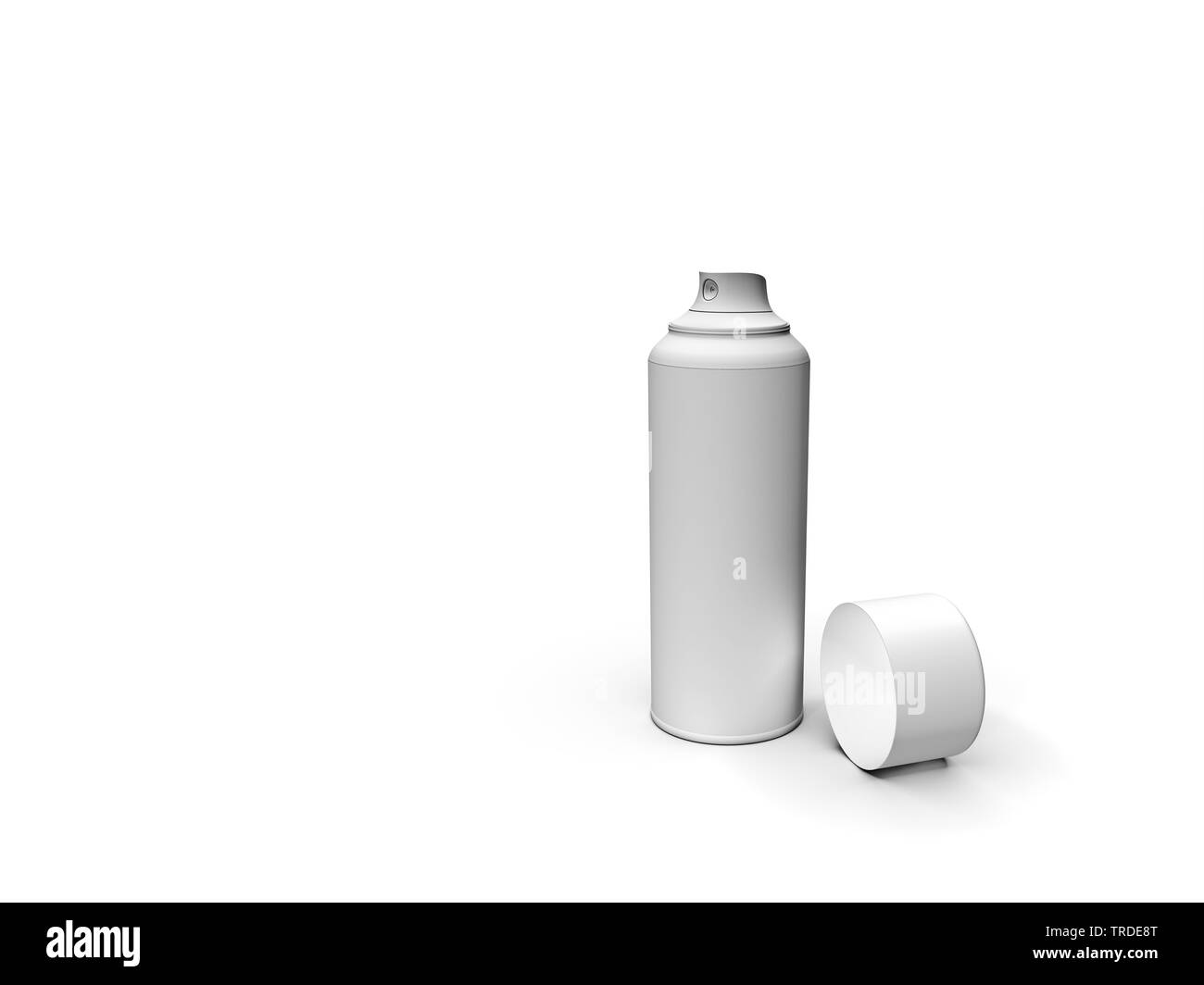 white spray can - Stock Image