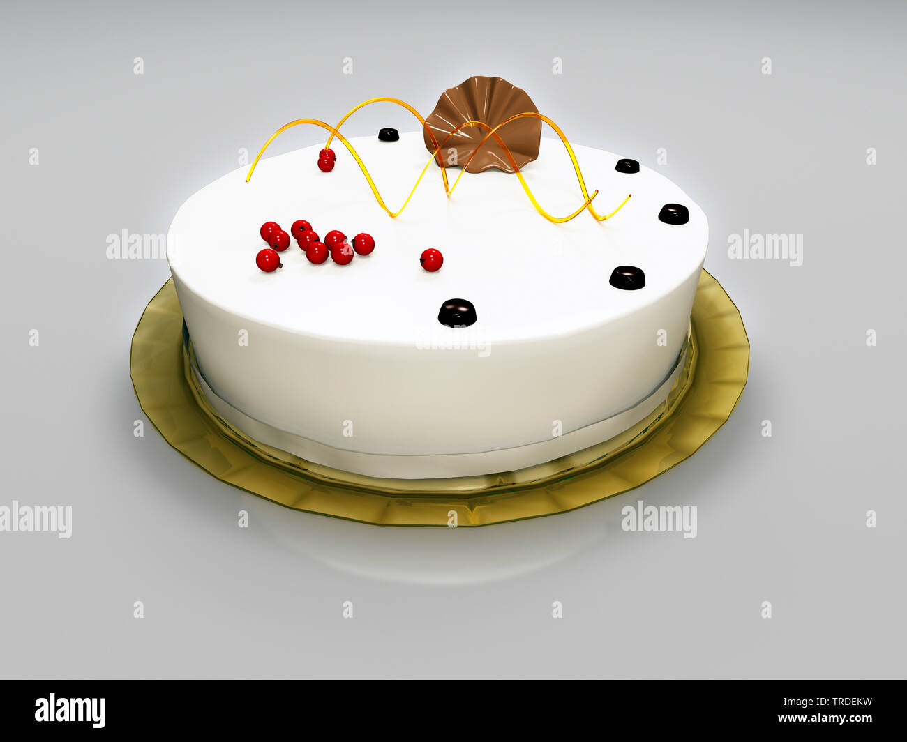 Amazing Delicious Birthday Cake Computer Graphik Stock Photo 255379149 Funny Birthday Cards Online Barepcheapnameinfo