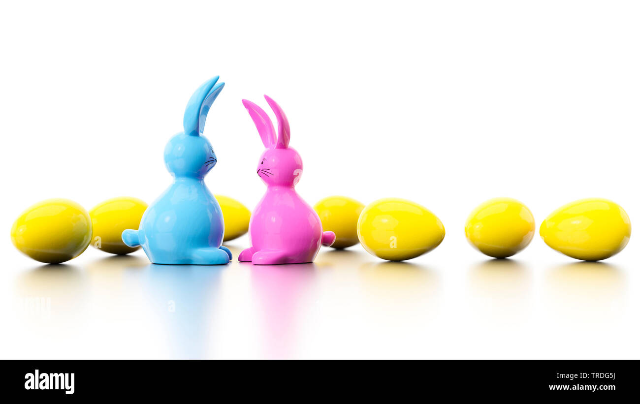 Three Easter Bunnies High Resolution Stock Photography and Images ...
