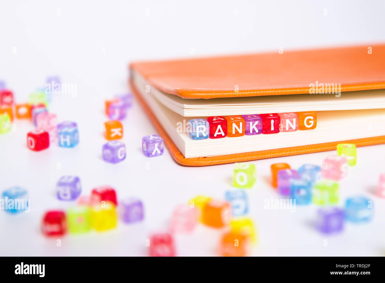 RANKING word written on colorful bead - Stock Image