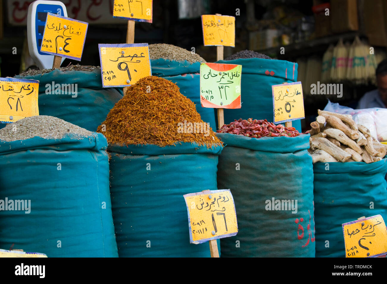 Gewuerze und Trockenfruechte im Bazar, Aegypten, Khan el Khalili | Khan el Khalili, bazar in Cairo, Egypt, Khan el Khalili | BLWS506446.jpg [ (c) blic - Stock Image