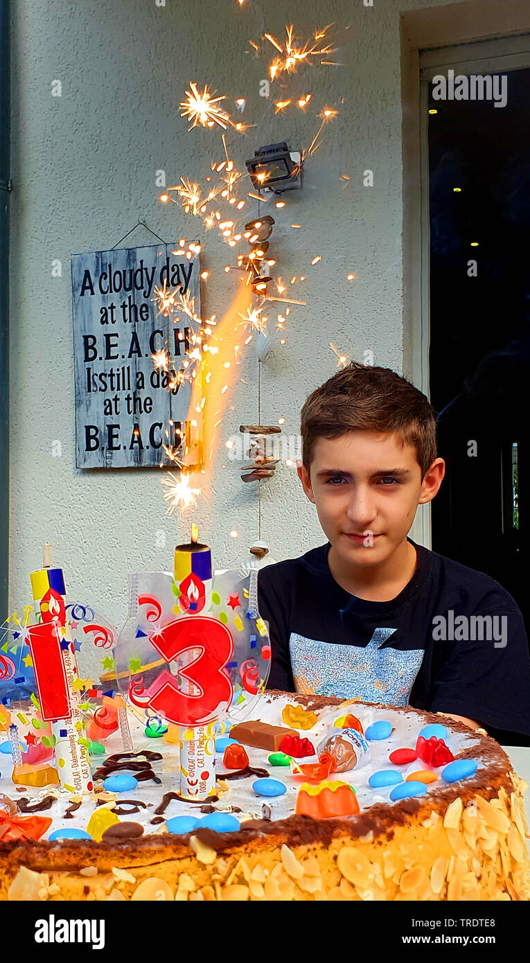 Outstanding Teenager With Gorgeous Birthday Cake For The 13Th Birthday Funny Birthday Cards Online Unhofree Goldxyz