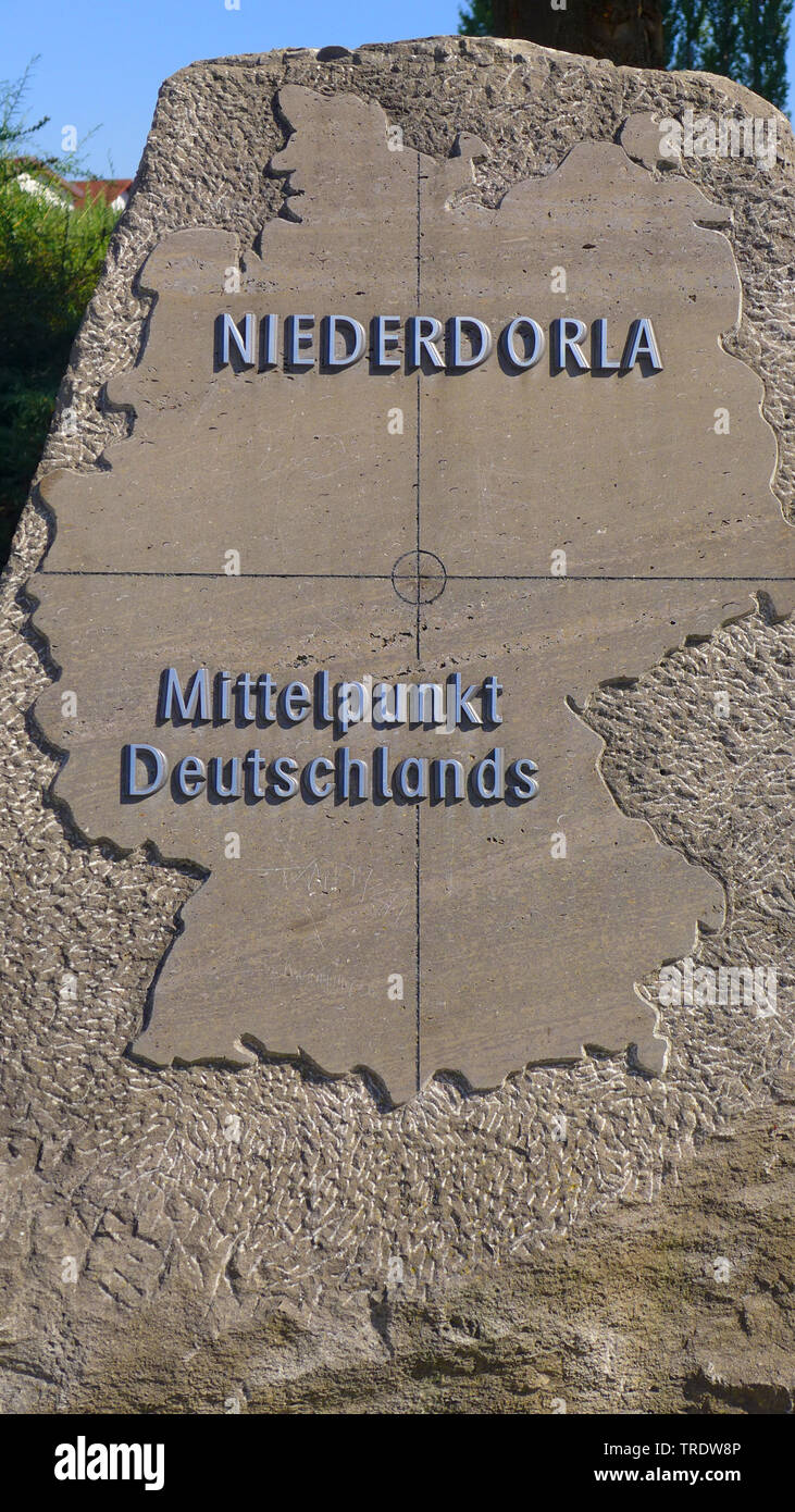 Mittelpunkt Deutschlands  , Deutschland, Thueringen | the Middle of Germany, Germany, Thueringen | BLWS510782.jpg [ (c) blickwinkel/M. Henning Tel. +4 - Stock Image