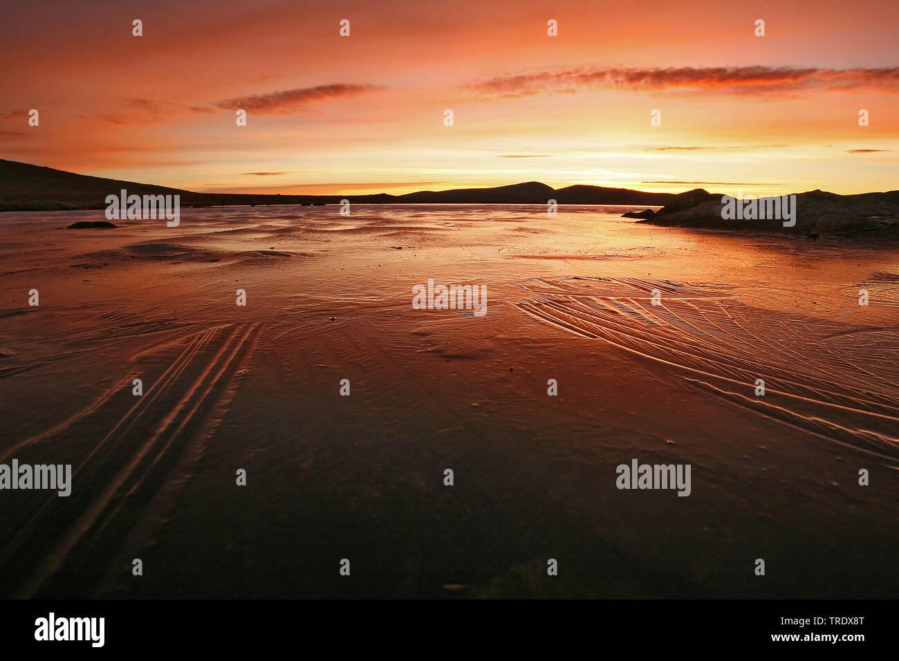 Valdresflya bei Sonnenuntergang, Norwegen, Valdresflya | Valdresflya at sunset, Norway, Valdresflya | BLWS511564.jpg [ (c) blickwinkel/AGAMI/K. Wilmer - Stock Image