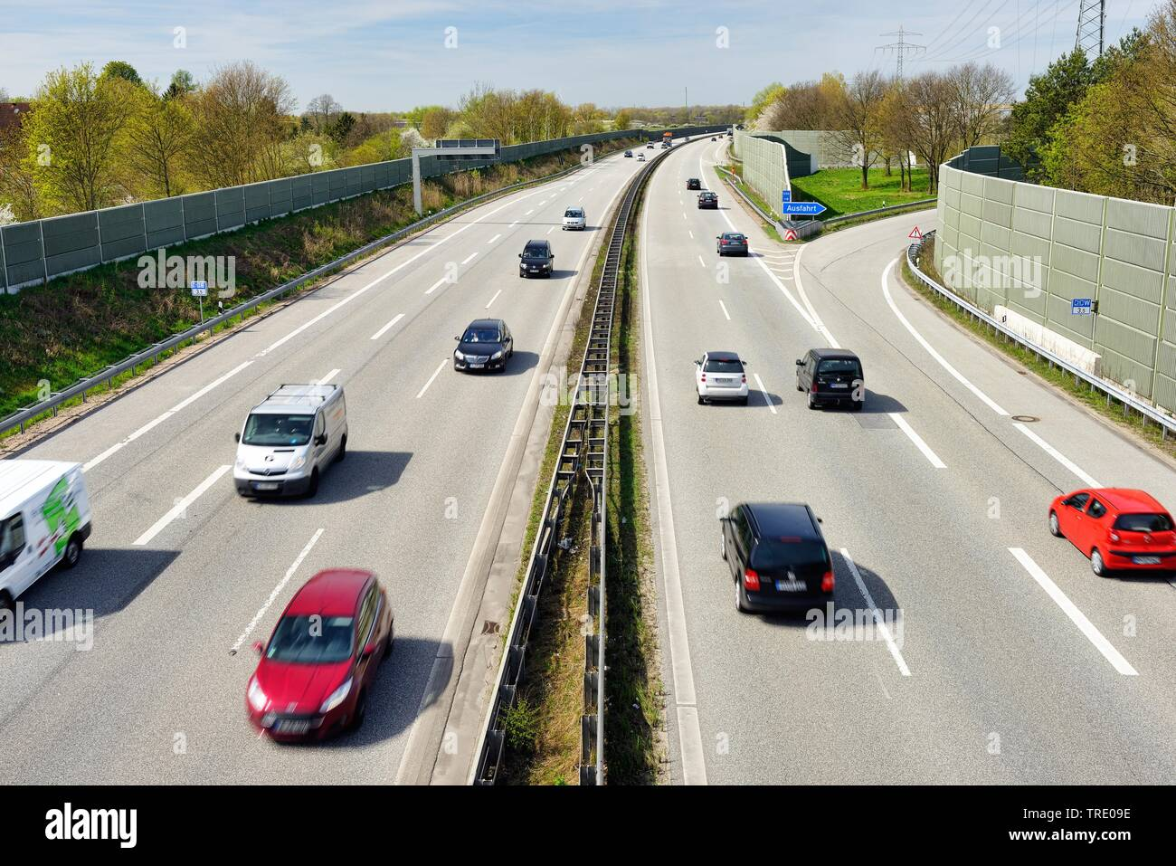 Autobahn A25, Deutschland | Highway A25 in Germany, Germany | BLWS513151.jpg [ (c) blickwinkel/McPHOTO/C. Ohde Tel. +49 (0)2302-2793220, E-mail: info@ - Stock Image