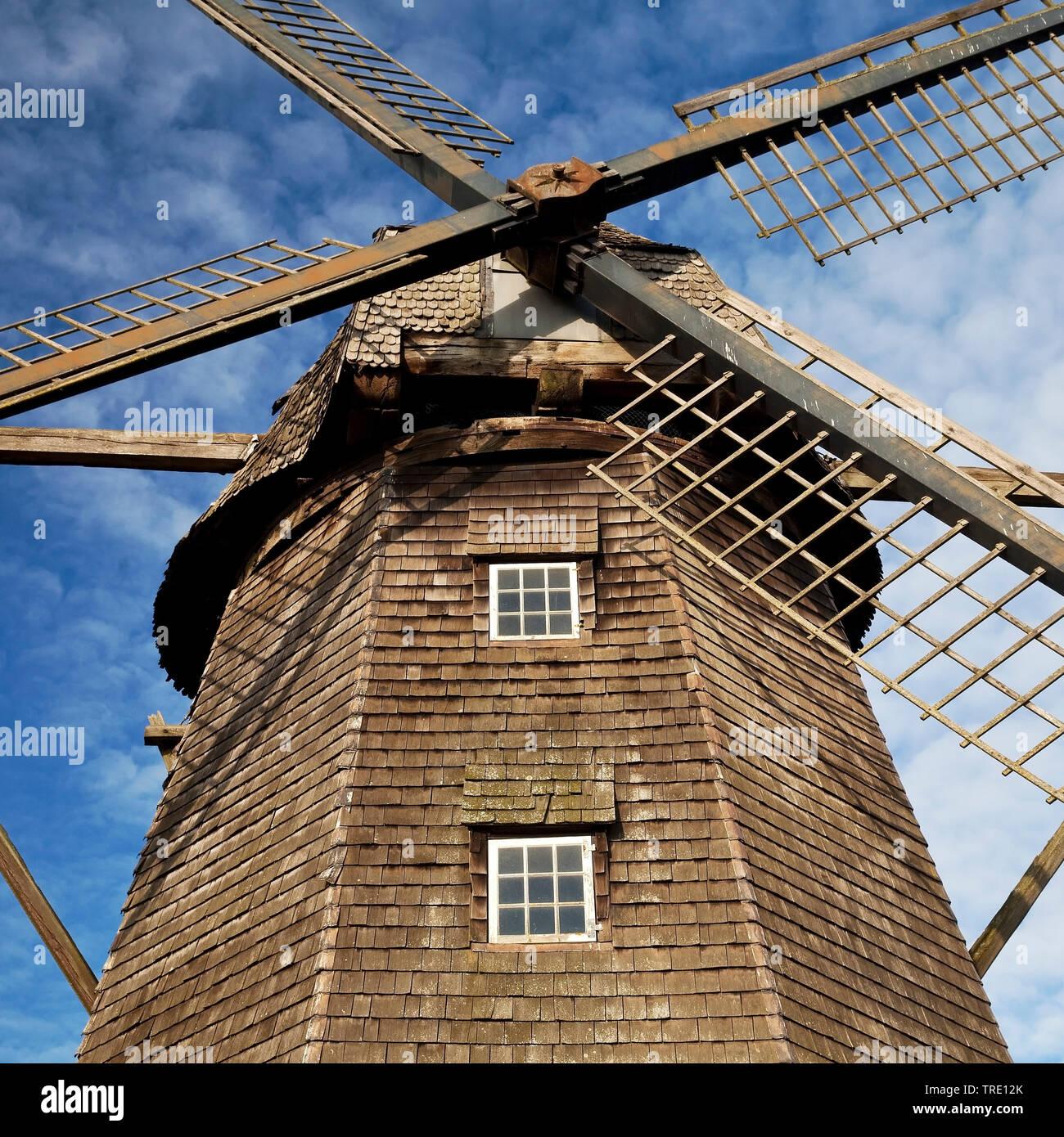 Letter Windmuehle, Deutschland, Nordrhein-Westfalen, Muensterland, Coesfeld   windmill in Coesfeld-Lette, Germany, North Rhine-Westphalia, Muensterlan - Stock Image