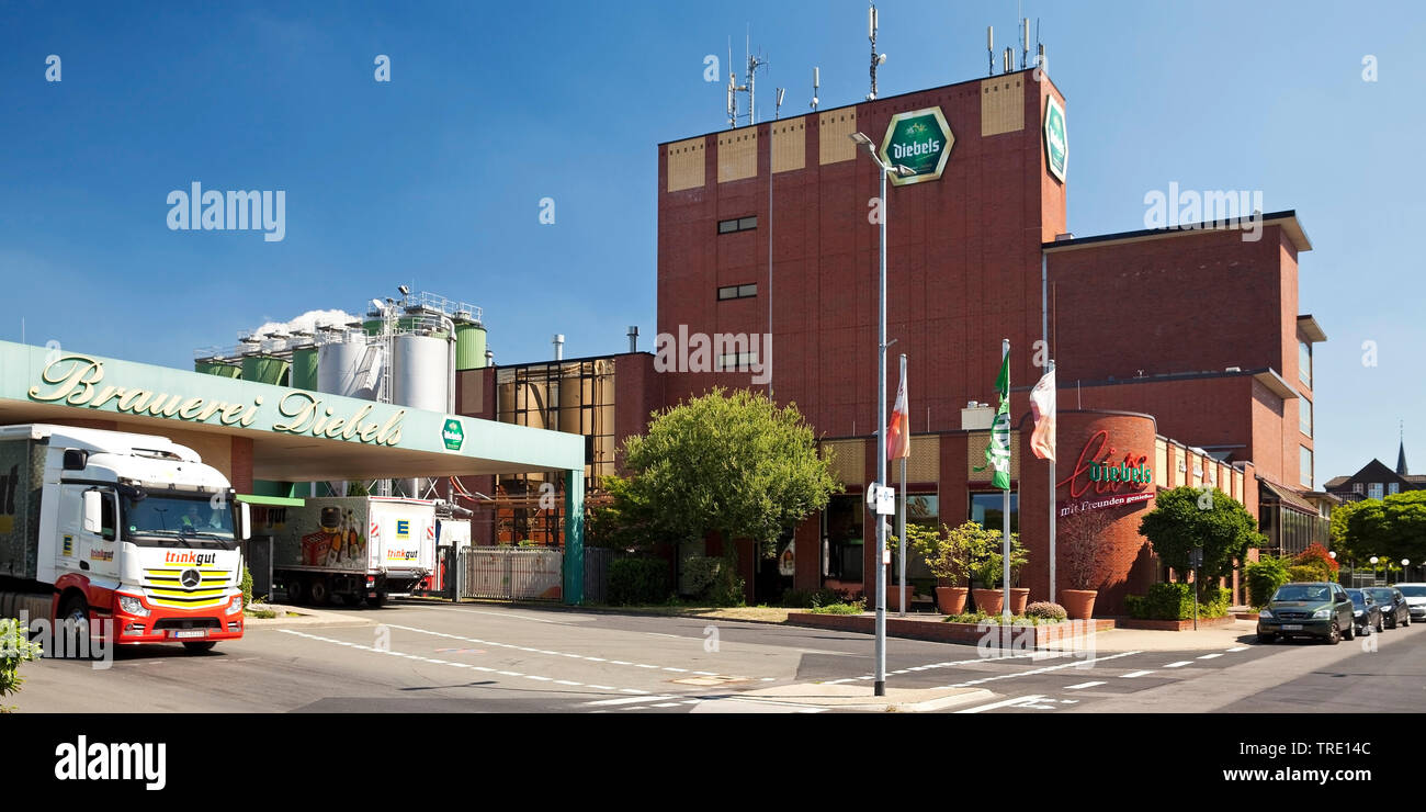 Diebels Brauerei, Deutschland, Nordrhein-Westfalen, Niederrhein, Issum | Diebels brewery, Germany, North Rhine-Westphalia, Lower Rhine, Issum | BLWS51 - Stock Image