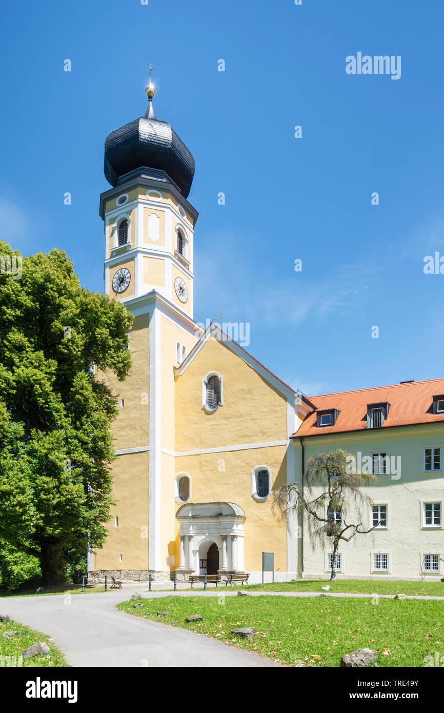 Klosterkirche Bernried am Starnberger See, Deutschland, Bayern, Starnberg | Abbey at the monastery Bernried at lake Starnberg, Germany, Bavaria, Starn - Stock Image