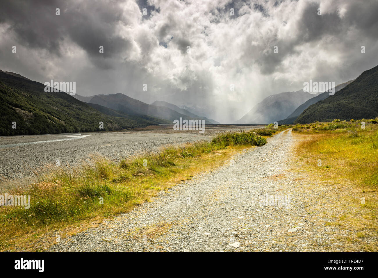 Typical weather, New Zealand Stock Photo