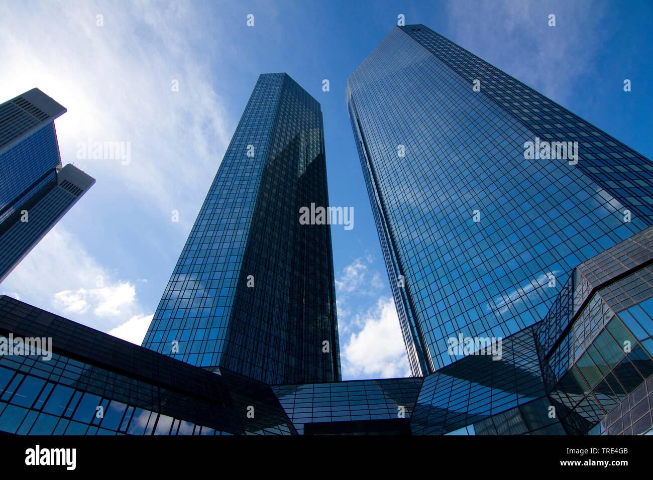 Zentrale der Deutschen Bank, Taunusanlage in Frankfurt am Main , Deutschland, Hessen | Headquater of the Deutsche Bank, Taunusanlage in Frankfurt am M - Stock Image