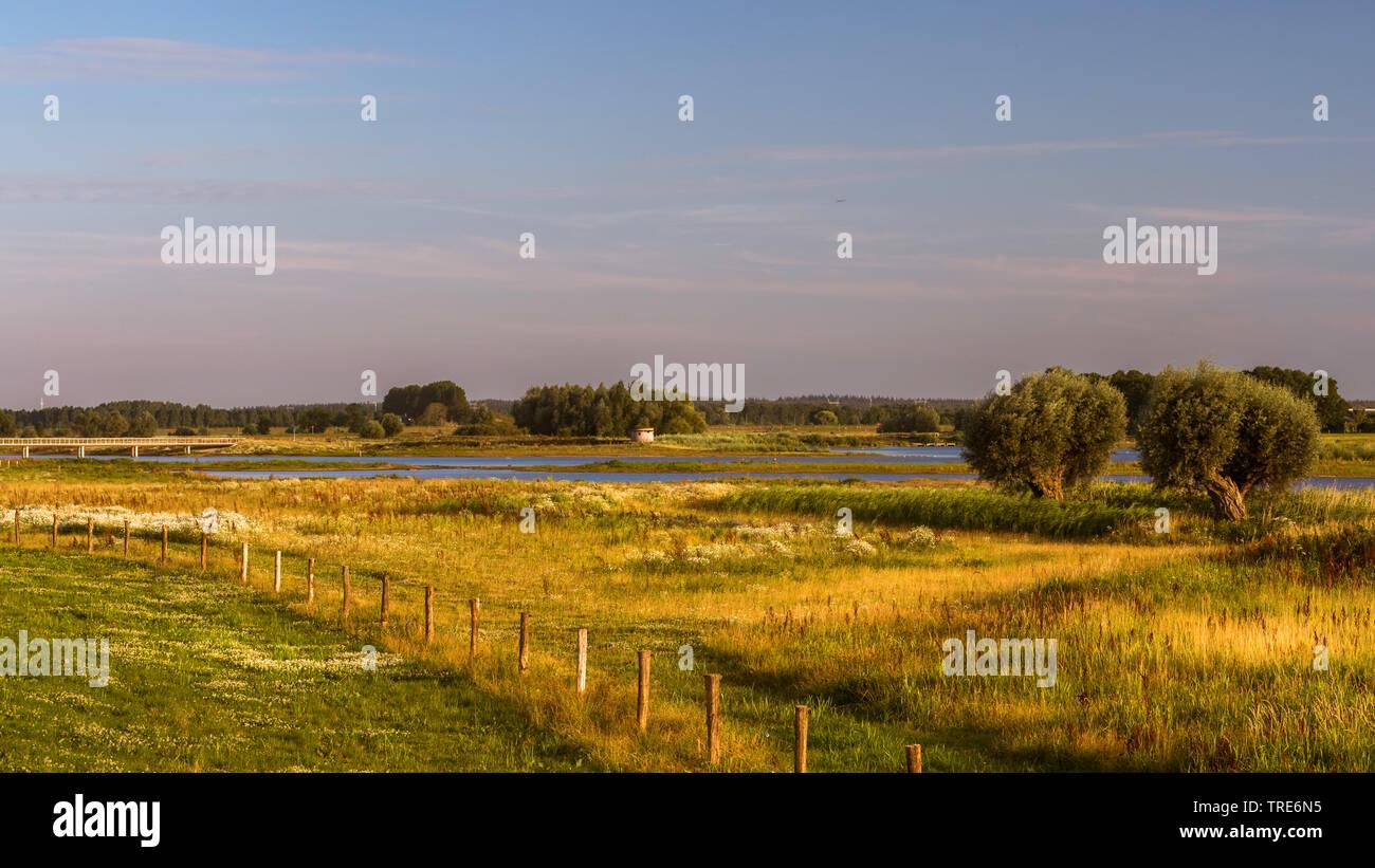 Uebersicht Vreugderijkerwaard, Niederlande, Overijssel, Vreugderijkerwaard, Zwolle   overview Vreugderijkerwaard, Netherlands, Overijssel, Vreugderijk - Stock Image