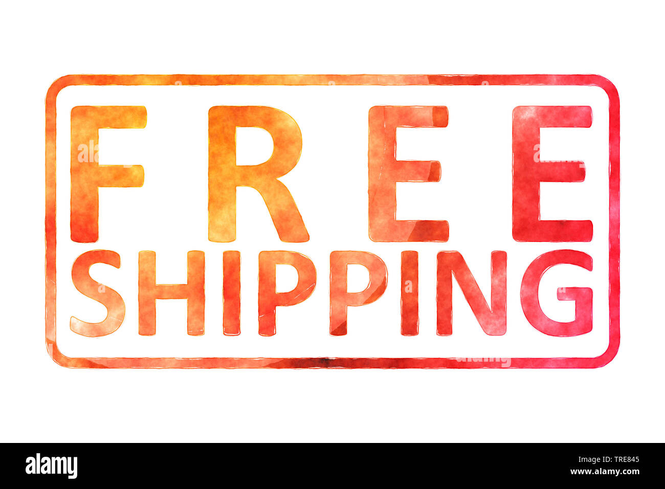 Schild free shipping, Computergraphik | sign free shipping, Computer graphik, Bundesrepublik Deutschland | BLWS519682.jpg [ (c) blickwinkel/McPHOTO/M. Stock Photo