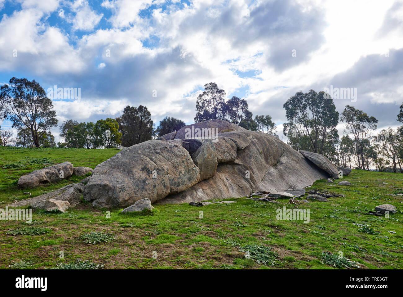 felsen im woodlands historic park in der naehe von melbourne im fruehling australien victoria