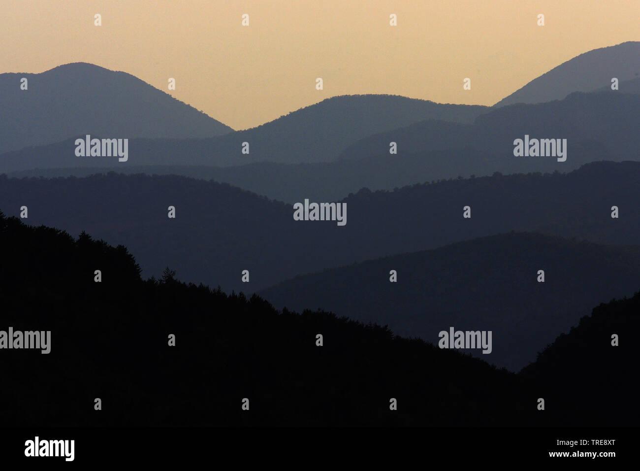 Alpen in der Abenddaemmerung, Frankreich, Remuzat | Alps at dusk, France, Remuzat | BLWS520266.jpg [ (c) blickwinkel/AGAMI/J. van der Neut Tel. +49 (0 - Stock Image