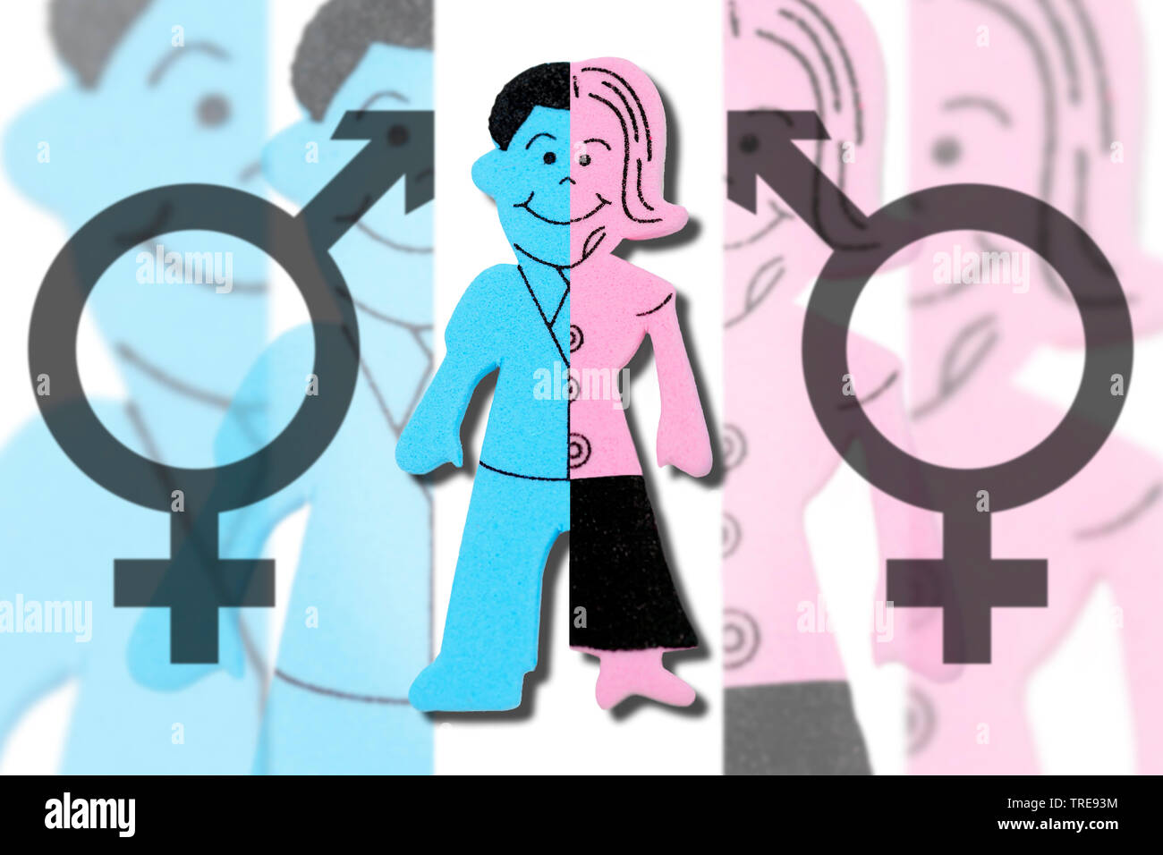 Figuren von Mann und Frau, drittes Geschlecht divers, Deutschland | figure auf men and women, Third gender, Germany | BLWS520379.jpg [ (c) blickwinkel - Stock Image