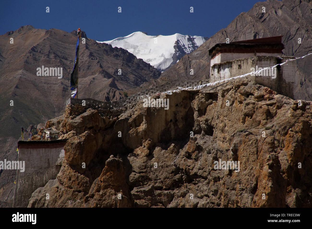 Kloster Dhankar, Spiti Tal, Indien, Himachal Pradesh, Spiti   Dhankar Gompa, Spiti Tal, India, Himachal Pradesh, Spiti   BLWS522521.jpg [ (c) blickwin - Stock Image