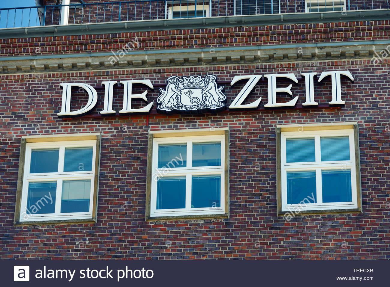 Die Zeit Verlagshaus, Deutschland, Hamburg | publishing house Die Zeit, Germany, Hamburg | BLWS523221.jpg [ (c) blickwinkel/McPHOTO/C. Ohde Tel. +49 ( - Stock Image