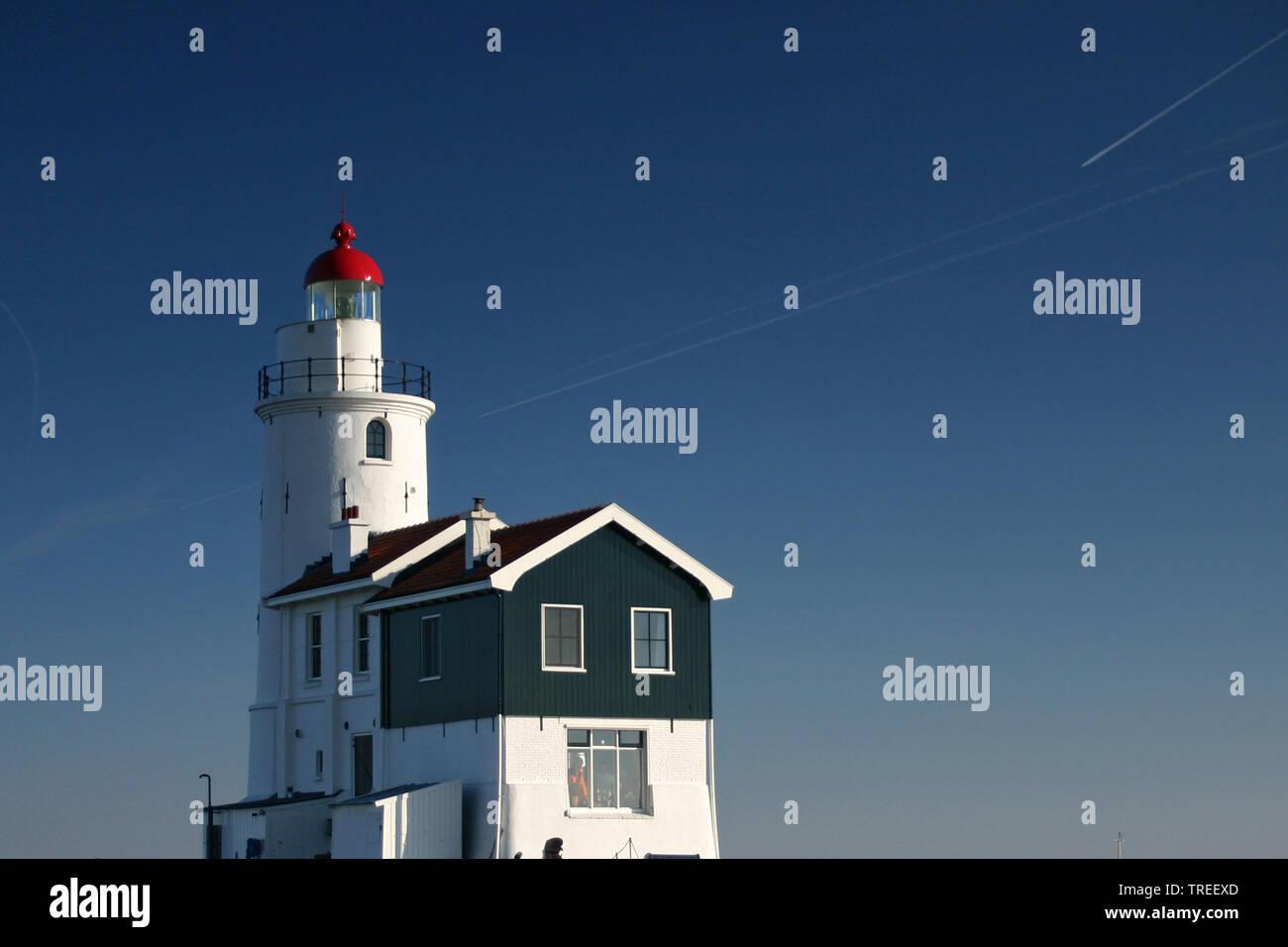 Leuchtturm Paard van Marken, Niederlande | Paard van Marken lighthouse, Netherlands | BLWS524753.jpg [ (c) blickwinkel/AGAMI/B. Haasnoot Tel. +49 (0)2 - Stock Image