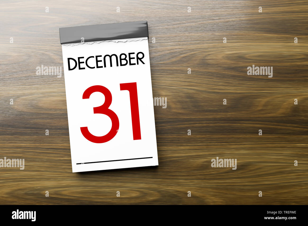 Abreisskalender mit Aufschrift DECEMBER 31 (31 Dezember) | Tear-off calendar lettering DECEMBER 31 | BLWS525594.jpg [ (c) blickwinkel/McPHOTO/M. Gann - Stock Image