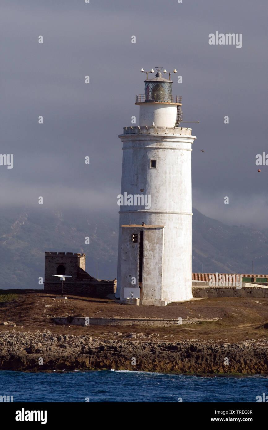 Faro de Tarifa auf Isla de las Palomas, Spanien, Tarifa | Faro de Tarifa on Isla de las Palomas, Spain, Tarifa | BLWS525906.jpg [ (c) blickwinkel/AGAM - Stock Image