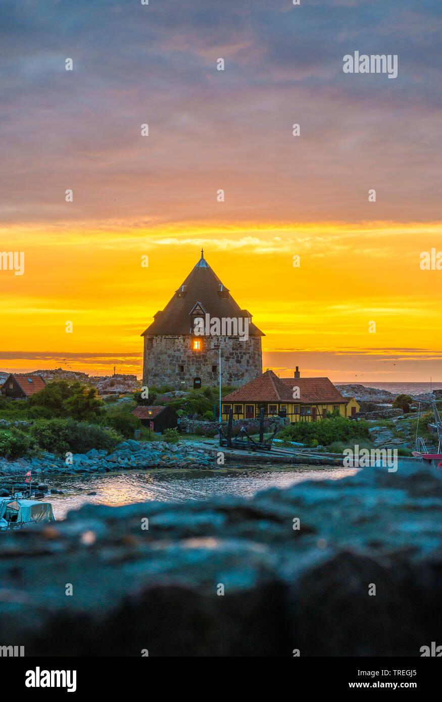 Baltic sea island Christians-Oe with bastion, Denmark, Christians-Oe Stock Photo