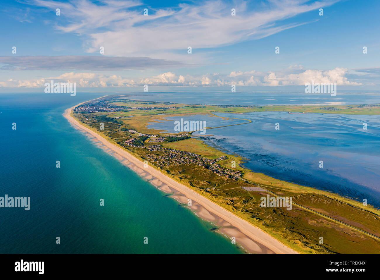Westkueste von Sylt, Luftbild, Deutschland, Schleswig-Holstein, Nordfriesland, Sylt   west coast of Sylt, aerial picture, Germany, Schleswig-Holstein, - Stock Image