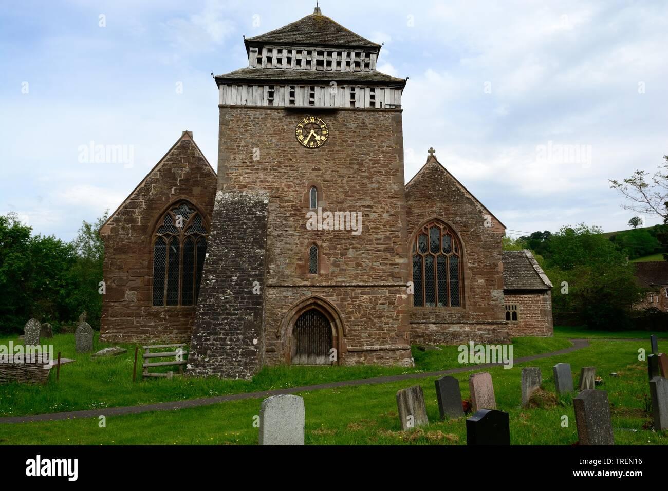 St Bridgets Church Skenfrith grade 1 listed building medieval origin Monmouthshire Wales cymru UK Stock Photo