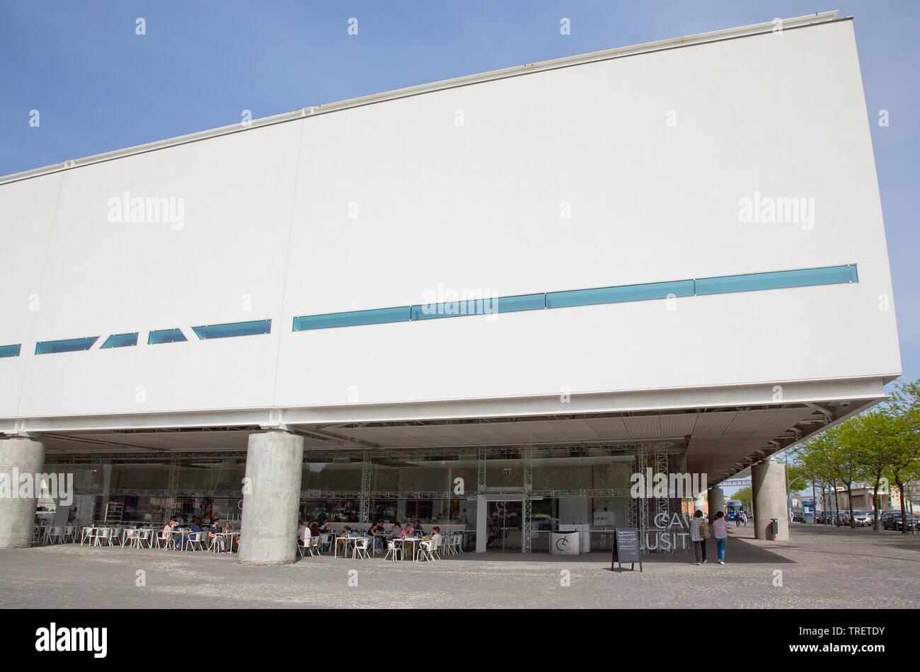 Portugal, Estredmadura, Lisbon, Belem, Cavalo Lusitano cafe in modern building. - Stock Image