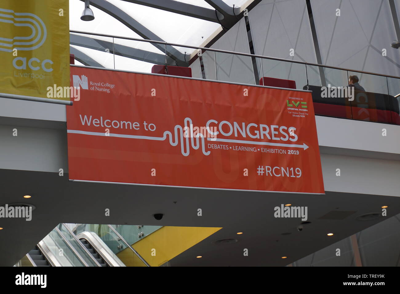 Royal College of Nursing (RCN) 2019 Annual Congress at the ACC in Liverpool. - Stock Image