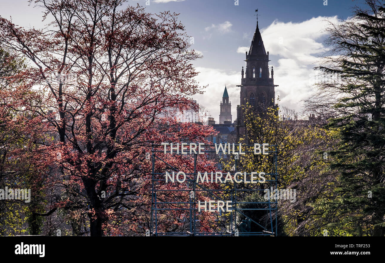 there will be no miracles here - Stock Image