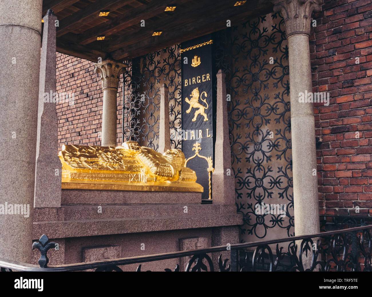 Editorial 03.27.2019 Stockholm Sweden Tomb of Birger Jarl, the founder of the city - Stock Image