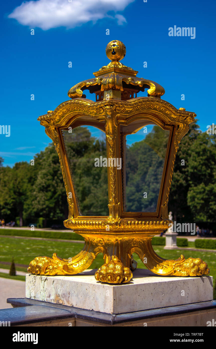 D - Nympfenburg : The golden latern - Stock Image