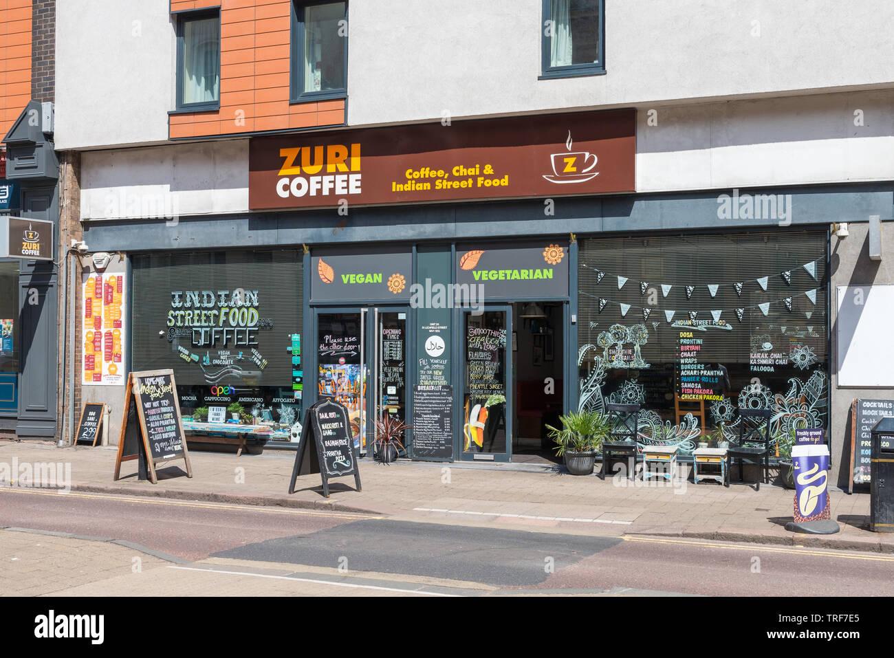 Zuri Coffee Lichfield Street Wolverhampton Cafe And Indian